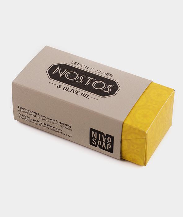 Nostos Lemon Flower & Olive Oil Soap Bar
