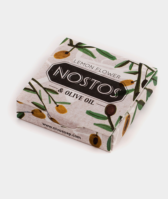 Nostos Lemon Flower & Olive Oil Mini Soap