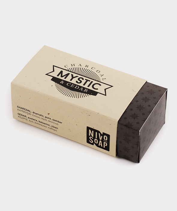 Nivosoap Mystic Charcoal & Cedar Soap Bar
