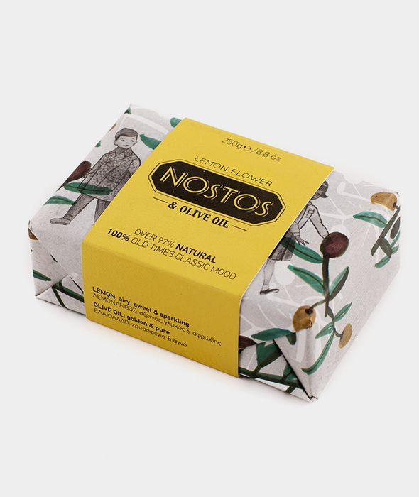 Nivosoap Nostos Lemon Flower & Olive Oil XL Soap