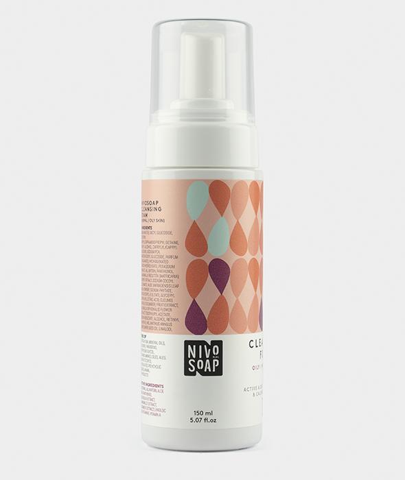 Nivo Soap Cleansing Foam Oily Normal Skin Aloe Vera & Calendula 2